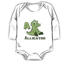 A is for Alligator  One Piece - Long Sleeve