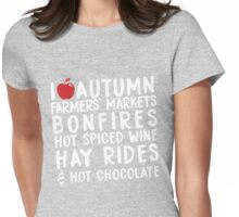 I Love Autumn Womens Fitted T-Shirt