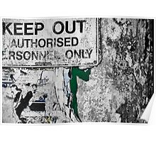 authorised personnel only Poster