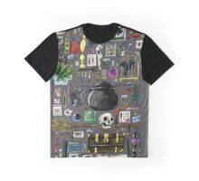 Witch Supplies Watercolor Painting Graphic T-Shirt