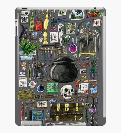 Witch Supplies Watercolor Painting iPad Case/Skin