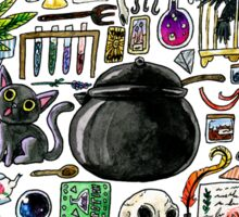 Witch Supplies Watercolor Sticker Sticker
