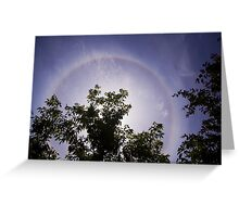 halo in chinese garden Greeting Card