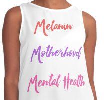 Melanin, Motherhood & Mental Health Contrast Tank