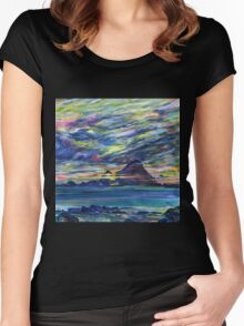 Rainbow sky at night, painters delight Women's Fitted Scoop T-Shirt