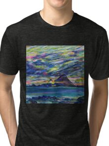 Rainbow sky at night, painters delight Tri-blend T-Shirt