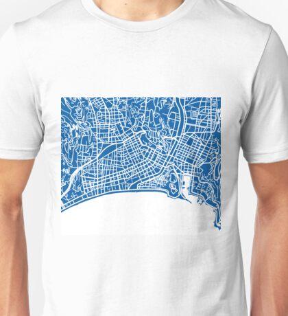 Nice Map - Deep Blue Unisex T-Shirt