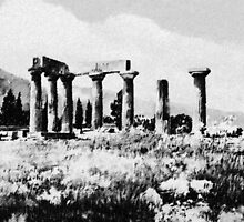 Temple of Apollo by painting-greece