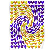 Love Hearts Abstract Multi Twist 3 Poster