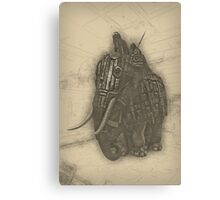 Armoured Elephant Canvas Print