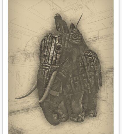 Armoured Elephant Sticker