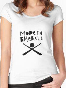 Modern Baseball // Black Women's Fitted Scoop T-Shirt
