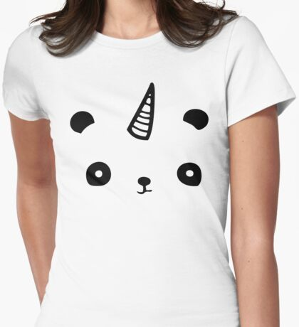 I Am PandiCorn Womens Fitted T-Shirt