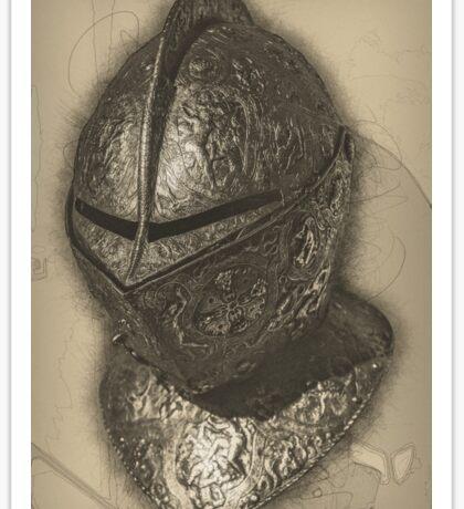Ornate Helmet Sticker