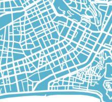 Nice Map - Baby Blue Sticker