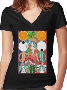 Ononokiwave Women's Fitted V-Neck T-Shirt