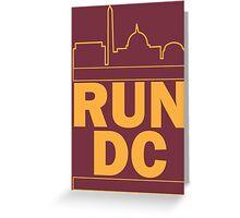 Redskins - Run DC - Run DMC Greeting Card
