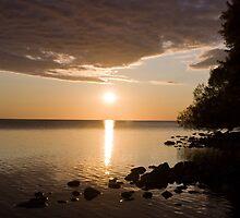 September evening on Lake Nipissing by Janet Gosselin