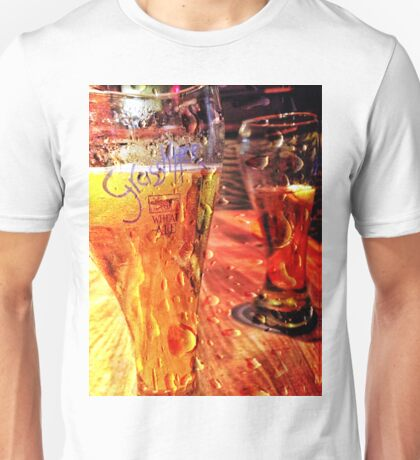 Beer at the bar.  Unisex T-Shirt