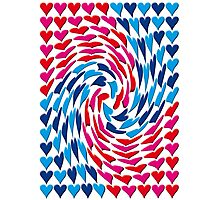 Love Hearts Abstract Multi Twist 1 Photographic Print