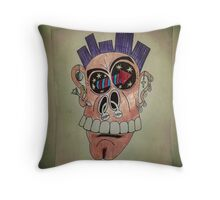 Punked Up Throw Pillow