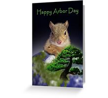 Happy Arbor Day Squirrel Greeting Card