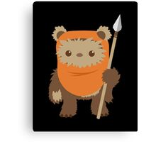 Cartoon Ewok Canvas Print