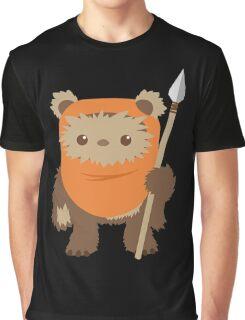 Cartoon Ewok Graphic T-Shirt