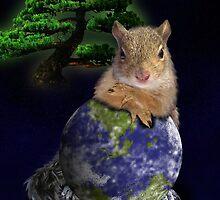 Happy Arbor Day Squirrel by jkartlife