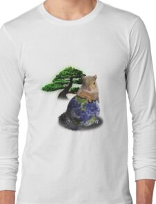 Happy Arbor Day Squirrel Long Sleeve T-Shirt