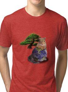 Happy Arbor Day Squirrel Tri-blend T-Shirt