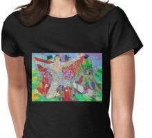 Elvis and the Three Bones Womens Fitted T-Shirt