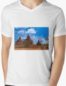 Bagan Pagodas2, Burma. Mens V-Neck T-Shirt