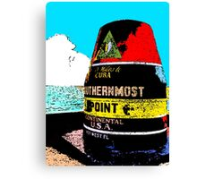 Southernmost Point Buoy Canvas Print