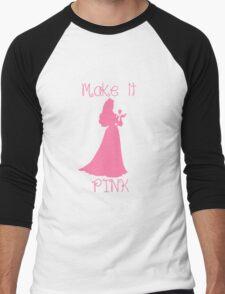 Make it Pink Men's Baseball ¾ T-Shirt