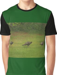 Turkey's In A Row         Pentax ( X-5 ) Digital Camera Graphic T-Shirt