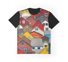 Colourful Houses Graphic T-Shirt