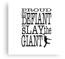 Newsies: Slay the Giant Canvas Print