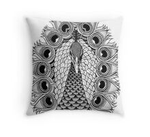 Mr Peacock Throw Pillow