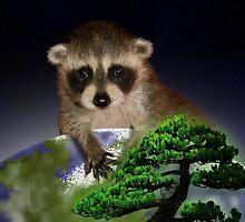 Happy Arbor Day Raccoon by jkartlife
