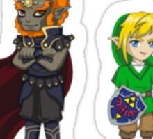 Legend of Zelda - Ganondorf and Link stickers Sticker