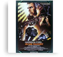 Vintage Blade Runner Poster Canvas Print