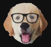 Golden Dog with Glasses Baby Tee