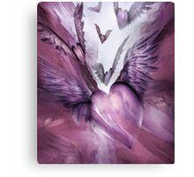 Flight Of The Heart - Mauve Canvas Print