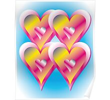 Refresher Hearts Abstract Poster