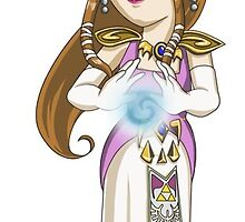 Legend of Zelda - Princess Zelda sticker by littlebearart