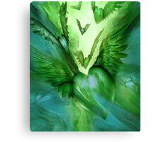 Flight Of The Heart - Green Canvas Print