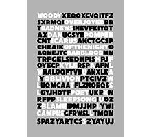 Bastille crossword. Photographic Print