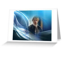 Jamie Fraser in blue swirl and light. Greeting Card