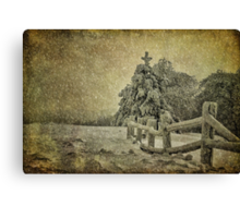 Oh Christmas Tree In Snow Canvas Print